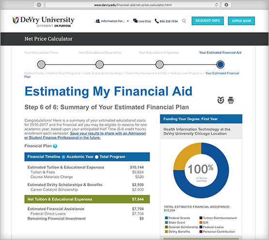 DeVry University Educational Calculator Exclaim